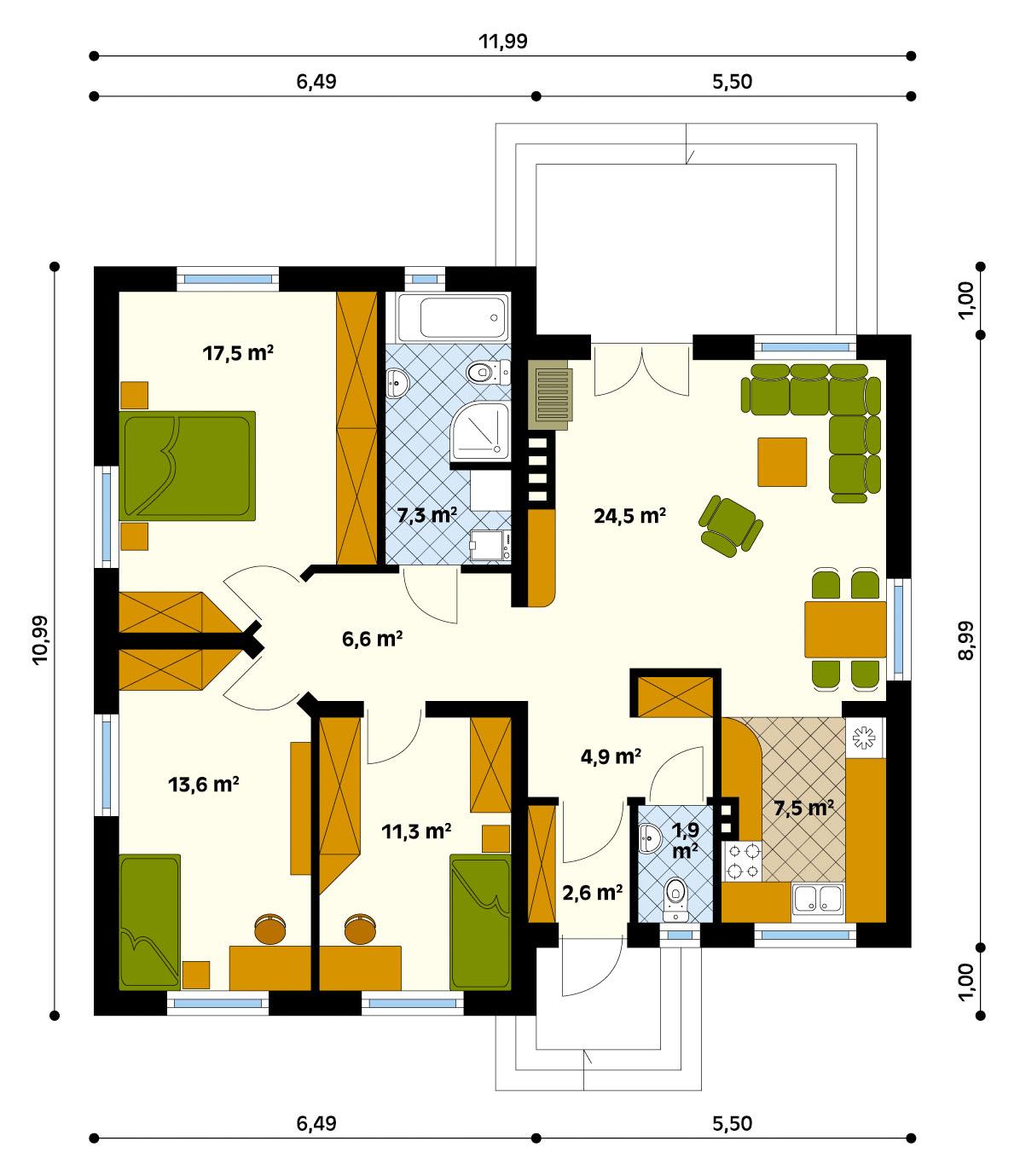 Чертежи домов одноэтажных домов