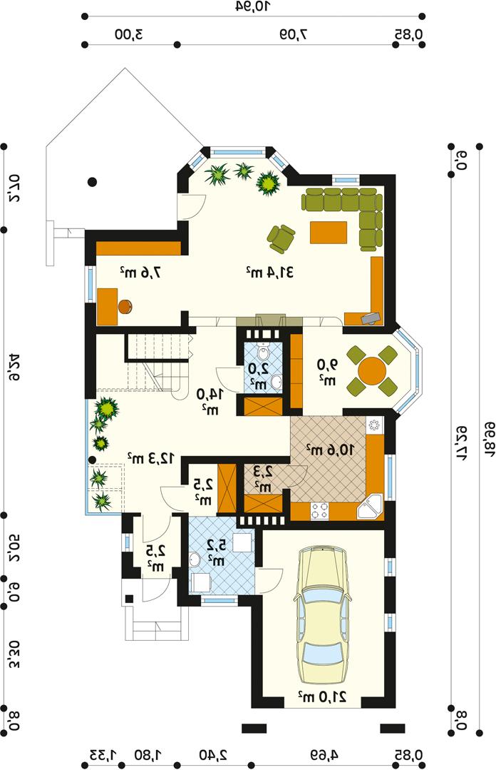 план дома на узком участке с гаражом фото елизаветапетровна