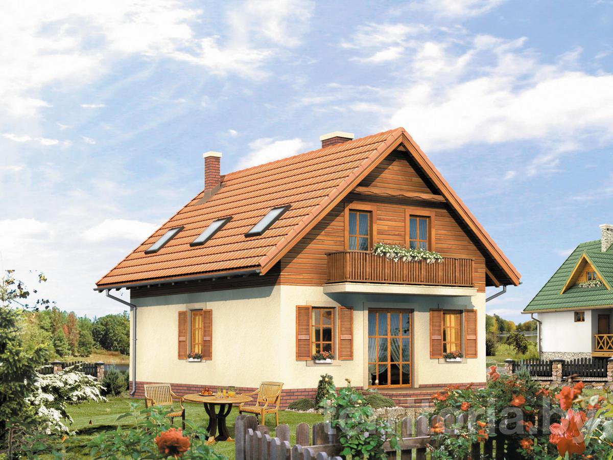 Дизайн мансардного дома крыши и фасада